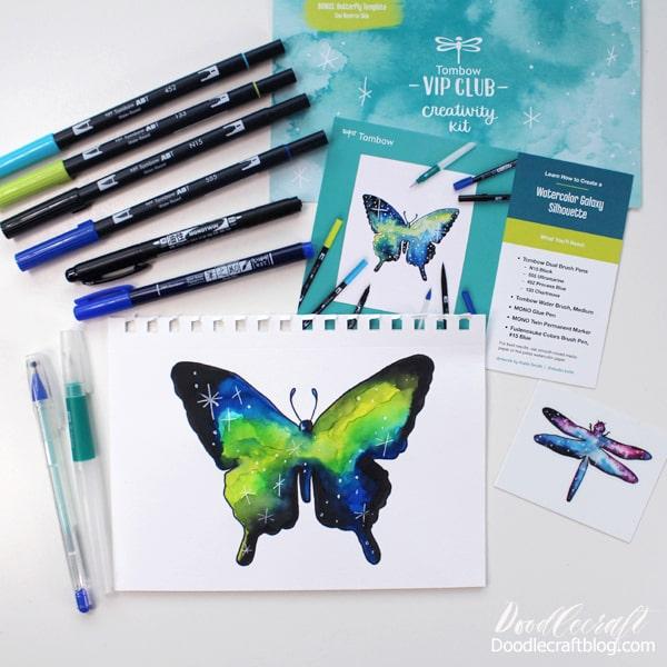 Watercolor Galaxy Silhouette VIP Club Creativity Kit
