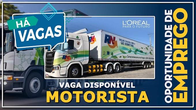 RN Logistica abre vagas para Motorista categoria B, D ou E Salário:  R$ 1.938,85