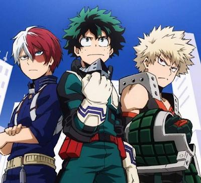 Bakugo, Deku y Todoroki; Todobakudeku
