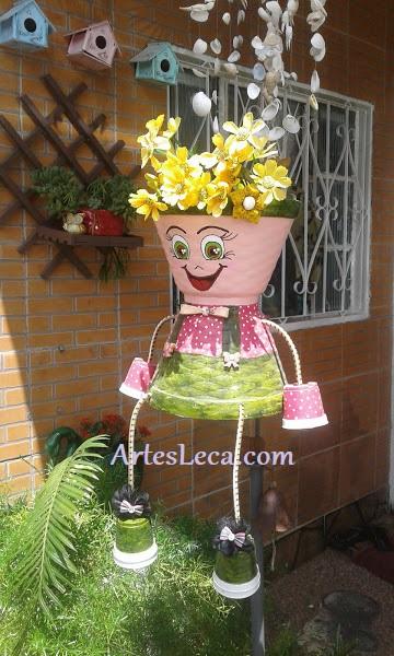 Vaso boneca articulado