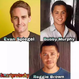 Evan Spiegel, Bobby Murphy, Reggie Brown