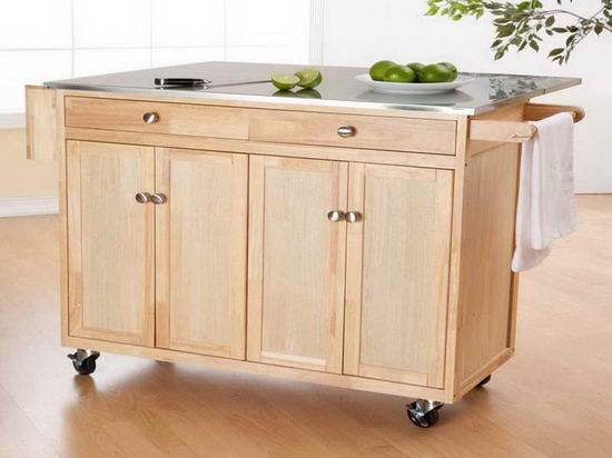Kitchen Island On Casters