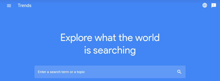 google trends - keyword research tools