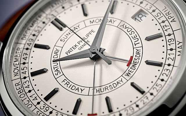 Patek Philippe Ref. 5212A-001 Calatrava Weekly Calendar, the dial