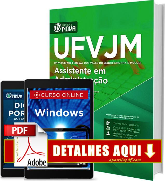Apostila UFVJM 2017 Assistente em Administração Impressa