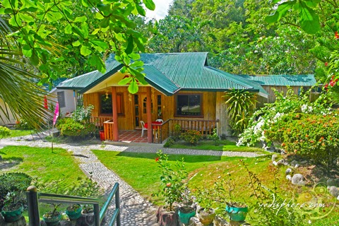 Bahay kubo inspired cottages at the Marinduque Hot Springs and resort