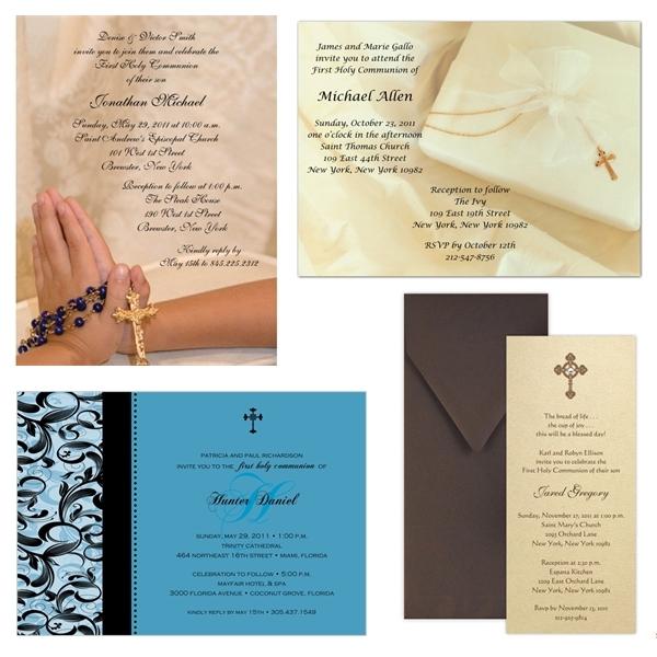 A Catholic Life First Holy Communion Invitations