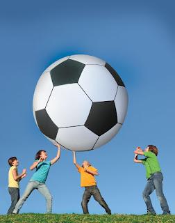 gigantic soccer ball