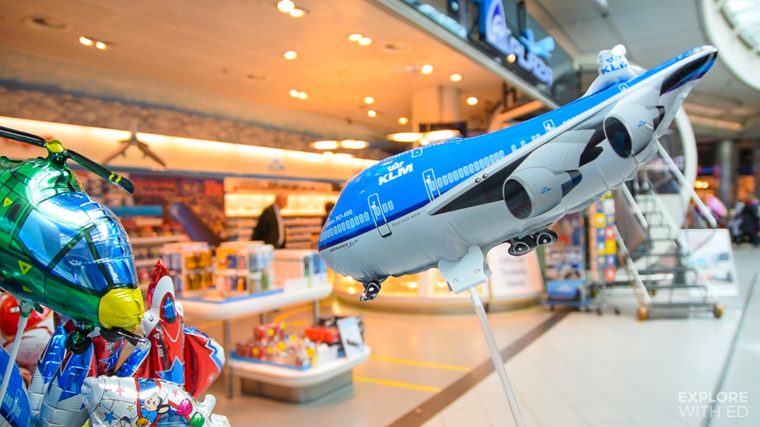 KLM Balloons and Shop in Schiphol Airport
