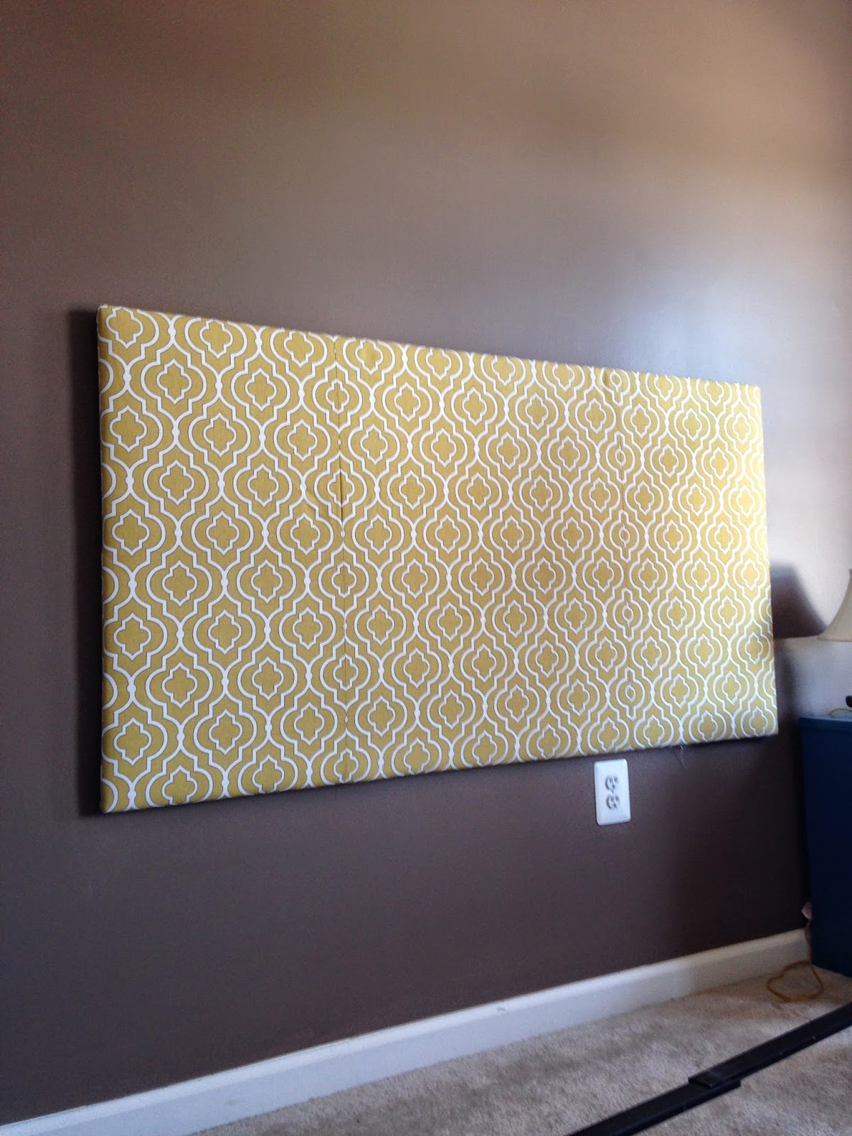 Another Crafty Day: DIY Queen Fabric Covered Headboard