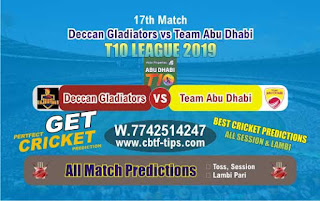 Who will win Today T10 League 2019, 18th Match TAB vs DEG, 100% Sure Prediction