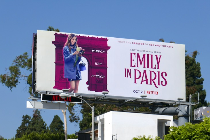 Emily in Paris Netflix series billboard