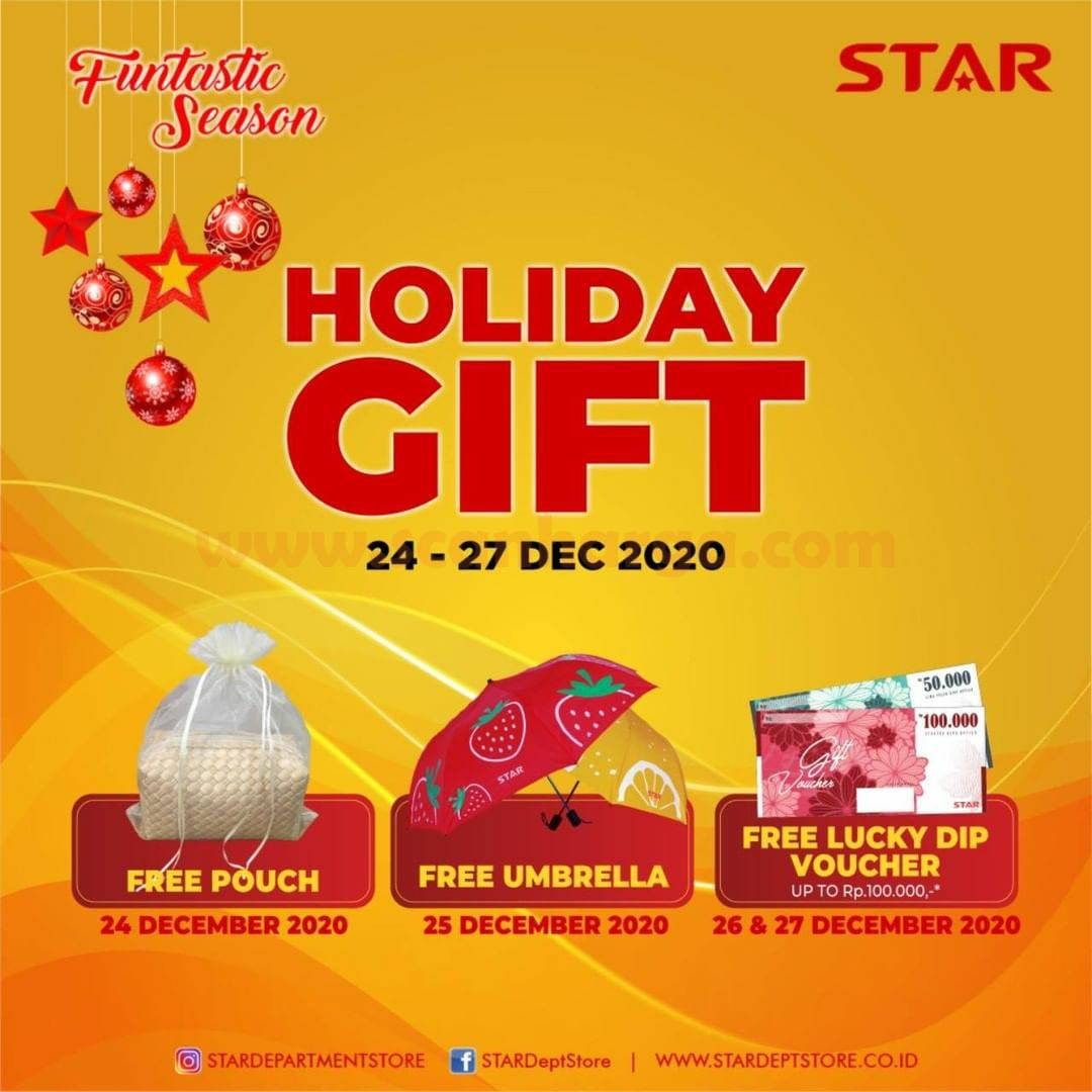 STAR Department Store Special Promo HOLIDAY GIFT