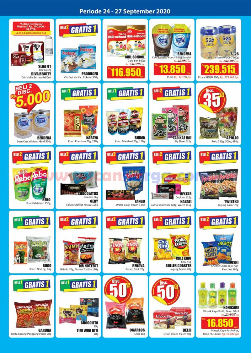 Katalog Promo JSM Hari Hari Swalayan Weekend 24 - 27 September 2020