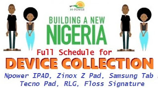 Npower 2017/2018 Ipad Device Collection Centre in Delta State