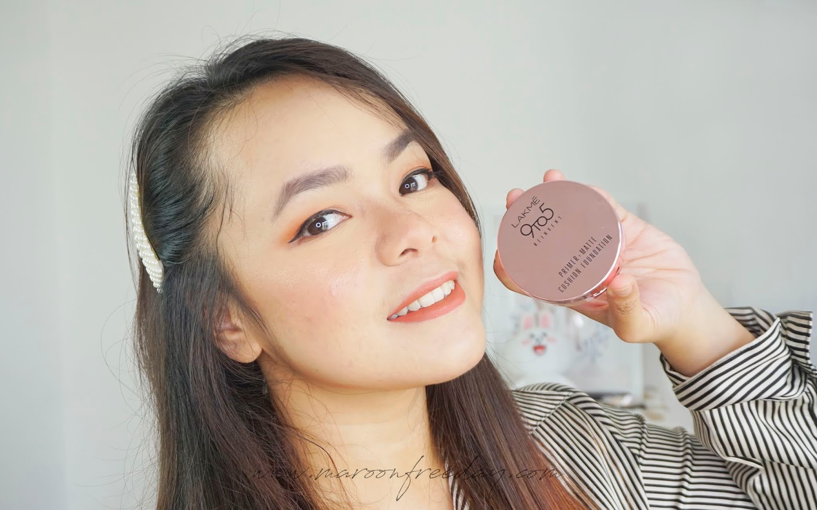 Review Lakme Primer Matte Cushion Foundation