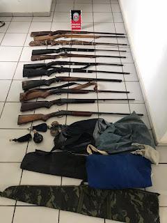 Polícia apreende 11 espingardas no sertão da Paraíba