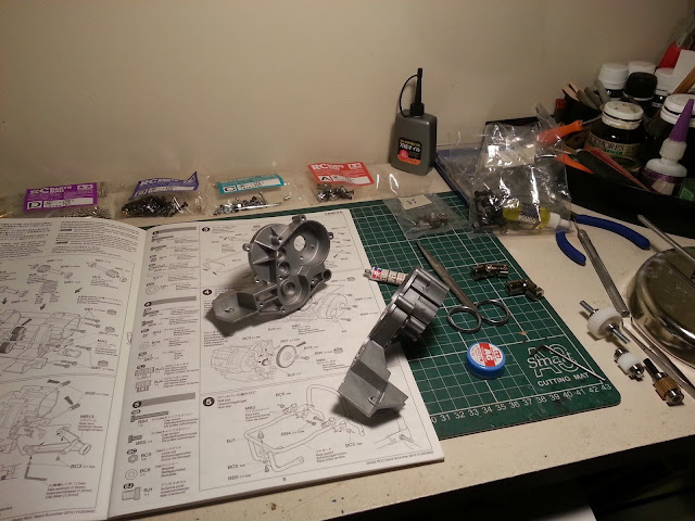 Building the Tamiya Sand Scorcher RC racing buggy