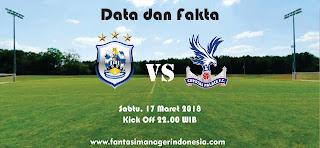Data dan Fakta Fantasy Premier League GW 31 Huddersfield vs Crystal Palace Fantasi manager Indonesia