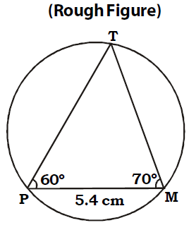 OMTEX CLASSES: 1. Draw the circumcircle of ∆ PMT such that