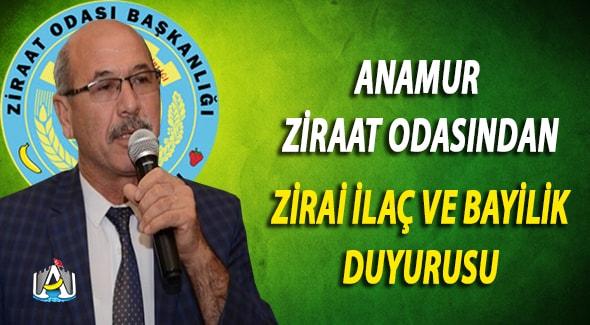 Anamur Haber, Anamur Son Dakika, Anamur Ziraat Odası, A.Şeref GÜMÜŞ