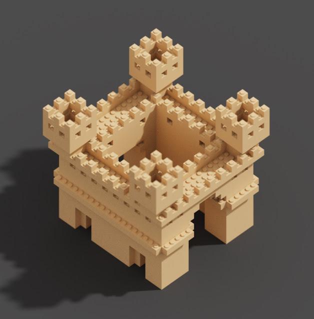Lego Voxels in MagicaVoxel