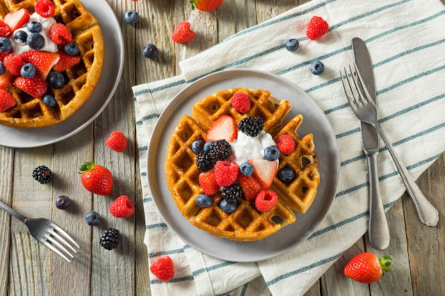 gezond recept proteine eiwit wafel vegan atkins