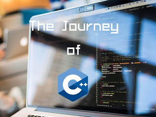 logo of c++ displayed over a computer screen