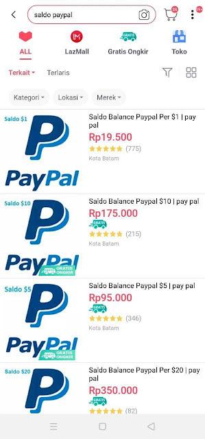 Beli Saldo Paypal di Lazada.png