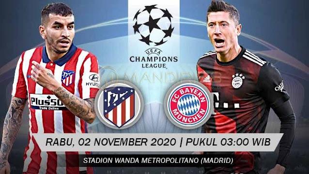 Prediksi Atletico Madrid Vs Bayern Munchen, Rabu 01 Desember 2020 Pukul 03.00 WIB