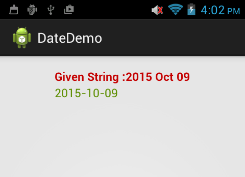 How to convert string to date format in android