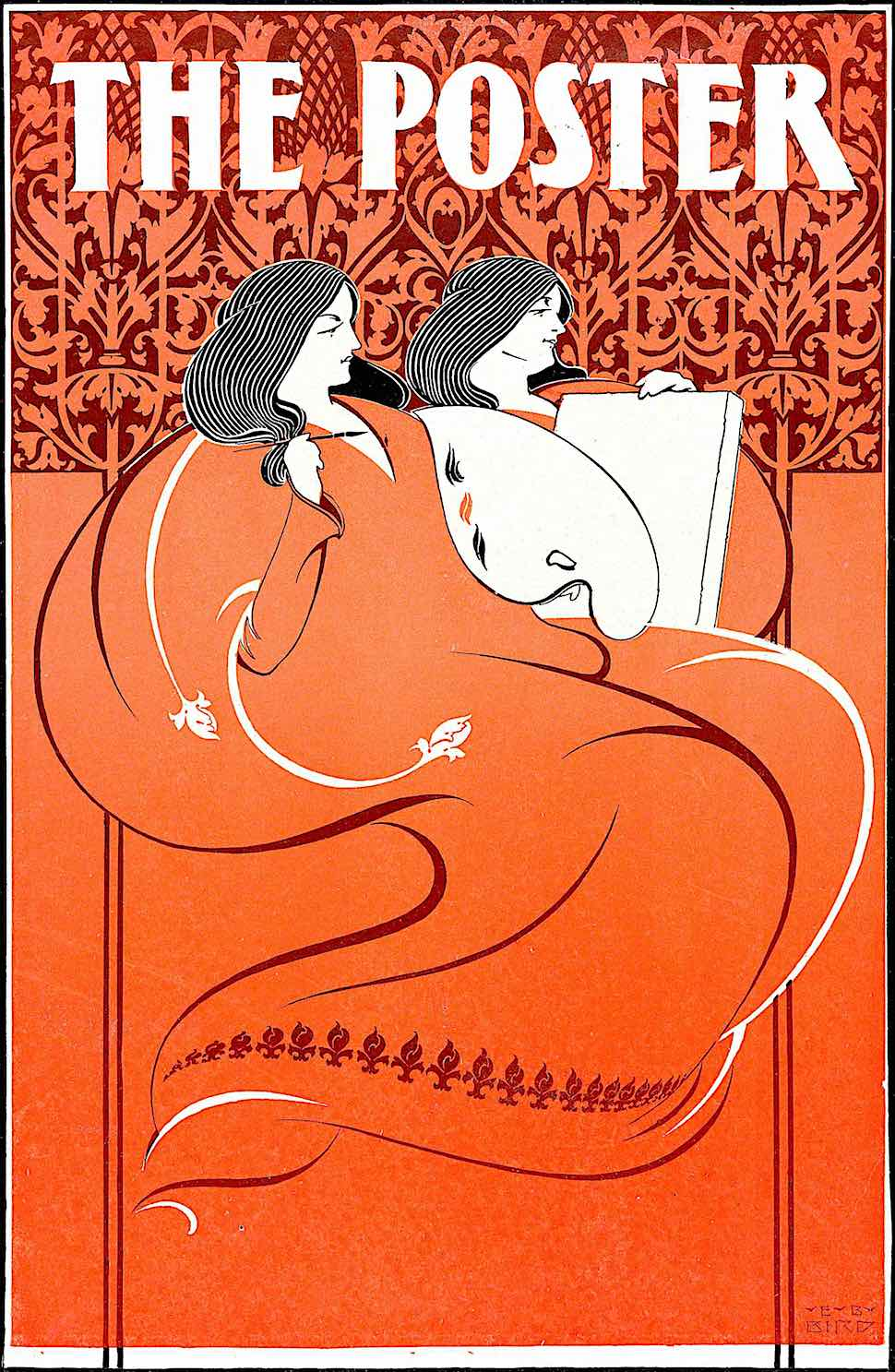 Elisha Brown Bird 1896, The Poster in red