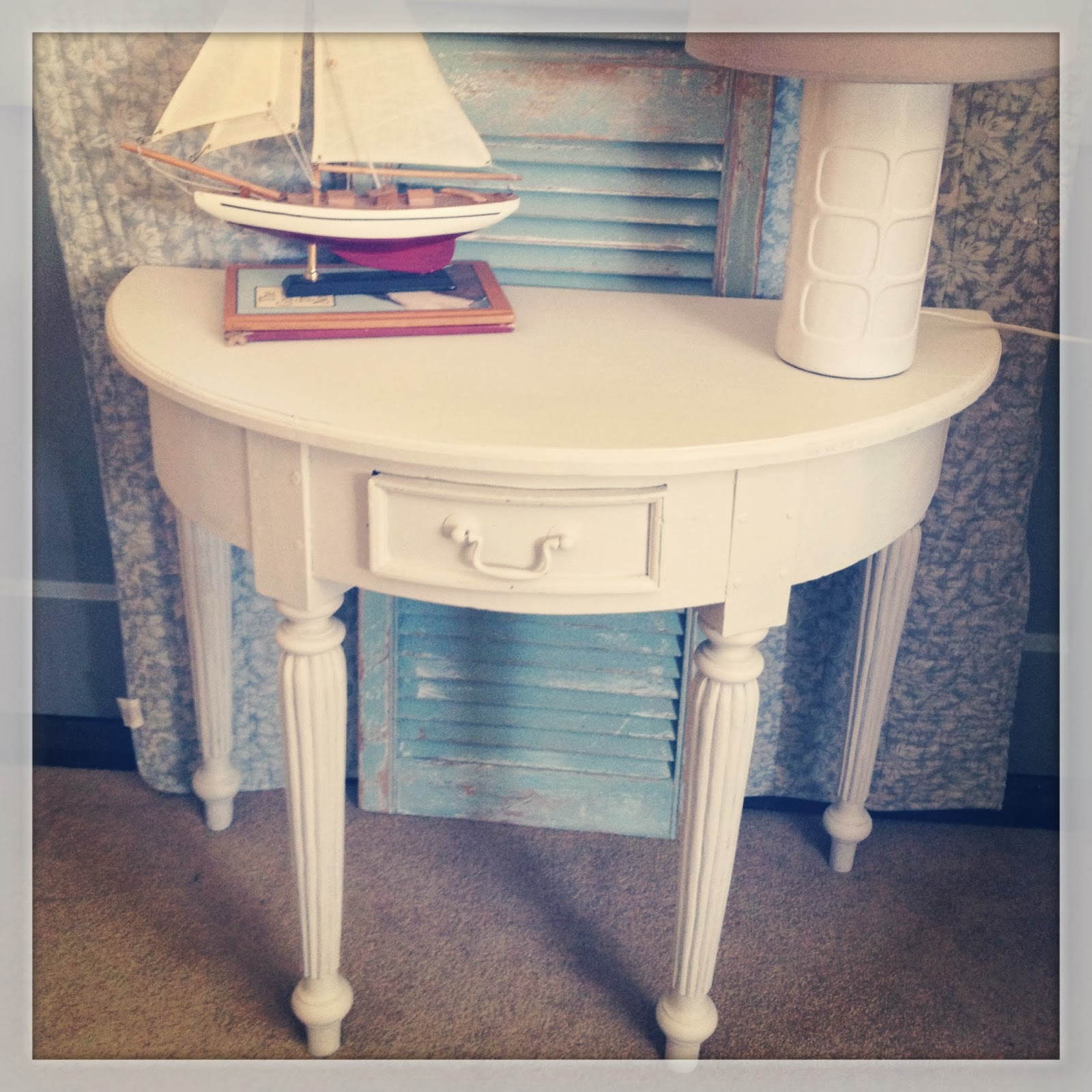 Drip Designs Furniture: White-washed Hall Table