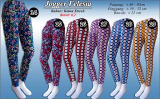 Jogger pants murah meriah katun stretch