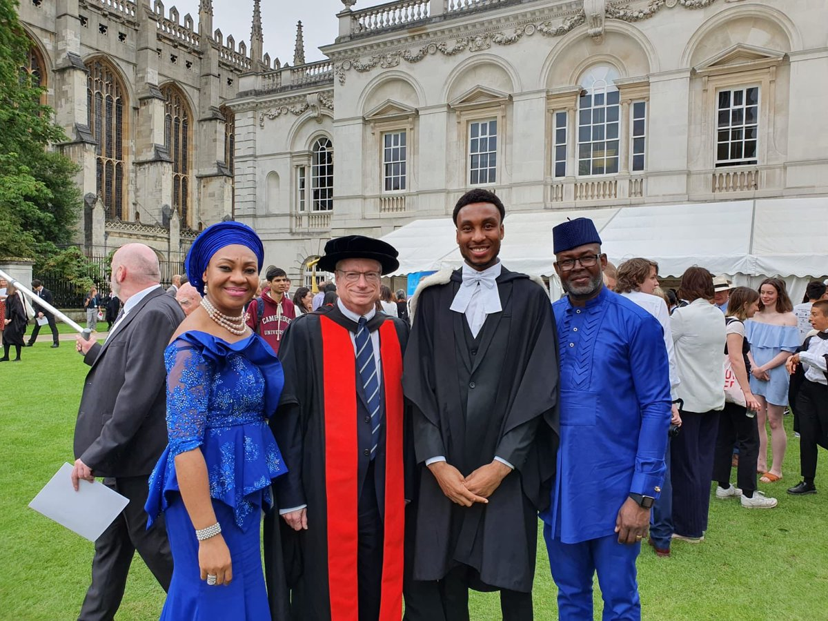 Photo news: Malcolm Ebose earns first class in Architecture at the University of Cambridge