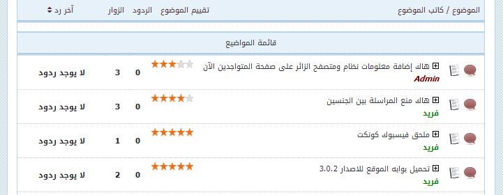 تقييم المواضيع بنجوم مختلفة وإظهار التقييم في محركات البحث