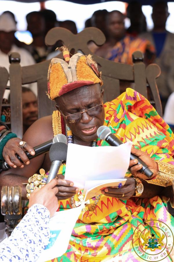 """Thank You For Free SHS"" – Awulae Attibrukusu III To President Akufo-Addo"