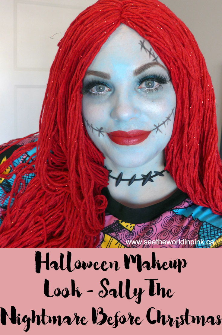 October Shop My Stash - The Nightmare Before Christmas Sally Makeup