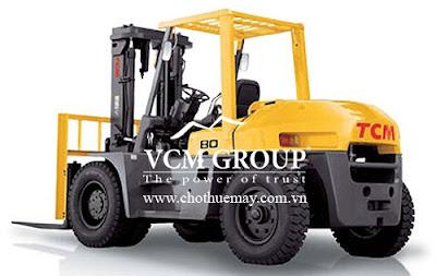 Cho thuê xe nâng hàng TCM FD60 động cơ dầu