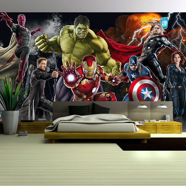 Avengers Wall Mural Superheroes