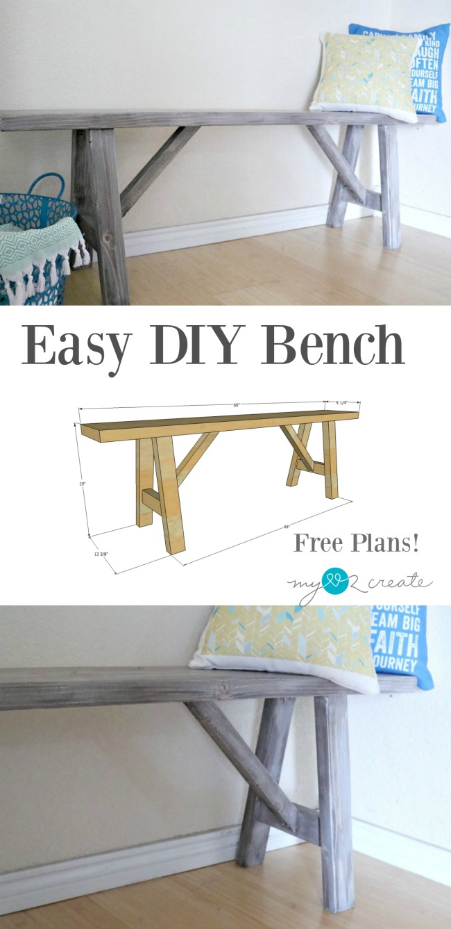 easy diy bench plans my love 2 create