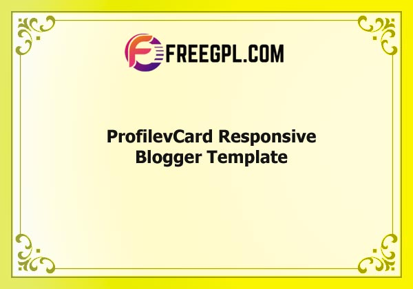 ProfilevCard - Responsive Blogger Template Nulled Download Free