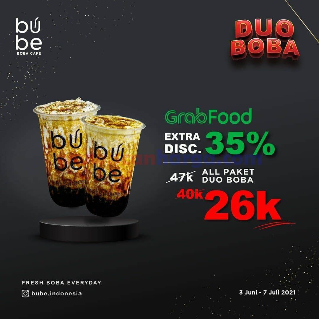 Promo BUBE DISKON hingga 35% melalui GRABFOOD