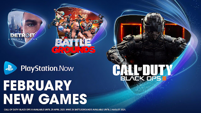 playstation now call of duty black ops 3 darksiders genesis detroit become human hotline miami 2 wrong number little nightmares wwe 2k battlegrounds ps4 lineup february 2021 sony