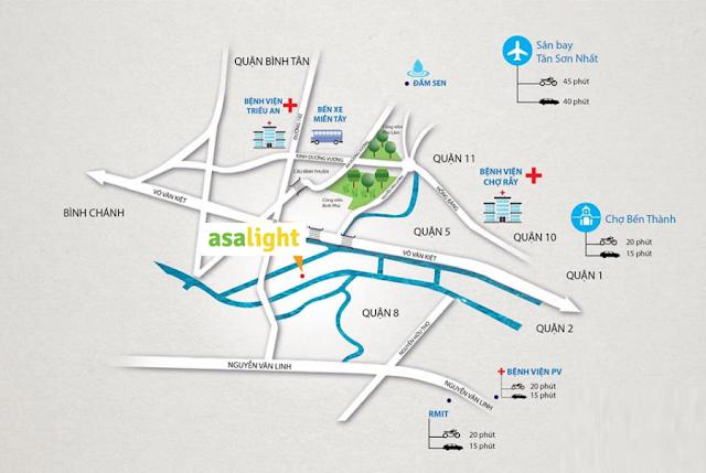 Vị trí căn hộ Asa Light Phạm Thế Hiển Quận 8