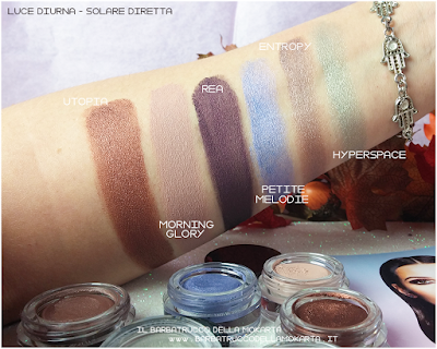 POTION PARADISE  SWATCHES OMBRETTI CREMA NABLA CREME SHADOW