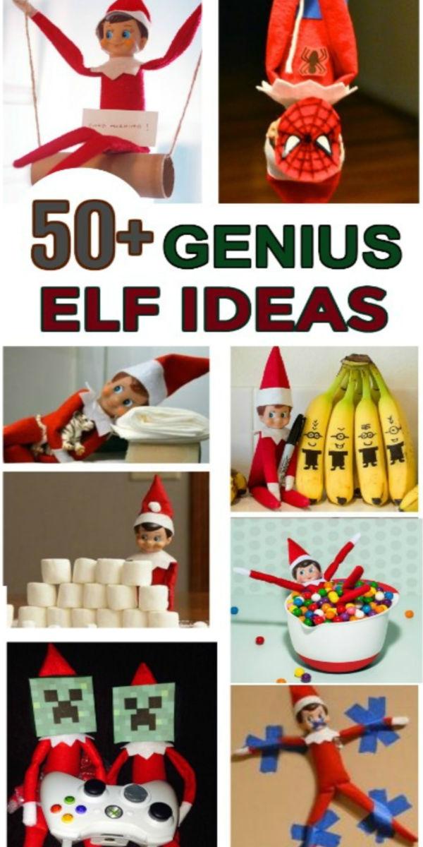 50+ fun & creative elf-on-the-shelf ideas for kids.  These are GENIUS!  #elfontheshelf #elfontheshelfideas #elfontheshelfideasfortoddlers #elf #elfontheshelfideasforkids #elfontheshelfideasfunny #elfideas #christmasactivitiesforkids #growingajeweledrose #activitiesforkids #funthingstodowiththeelfontheshelf