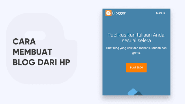 cara membuat blog dari hp