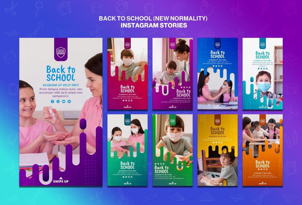 Professional back-to-school designs psd open source set 2