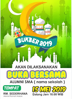 Download template undangan bukber 2019
